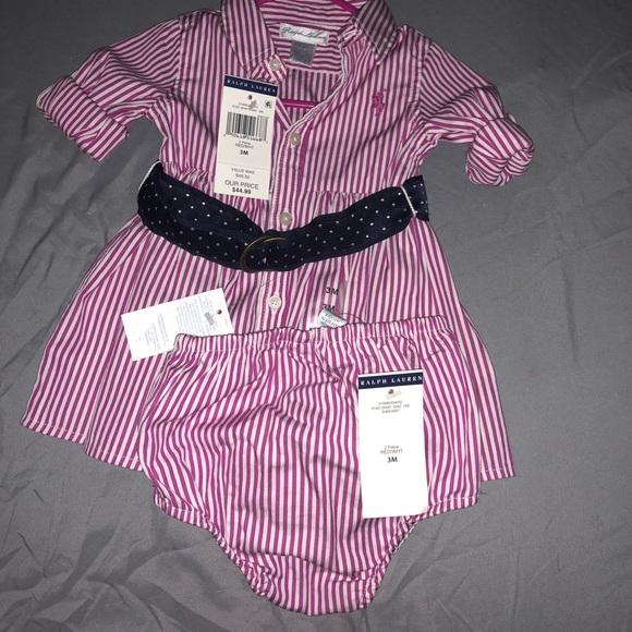 84108626 Brand New Baby Girl Ralph Lauren Dress NWT